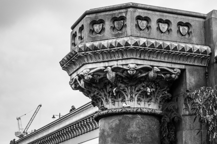 The columns on Blackfriars Bridge
