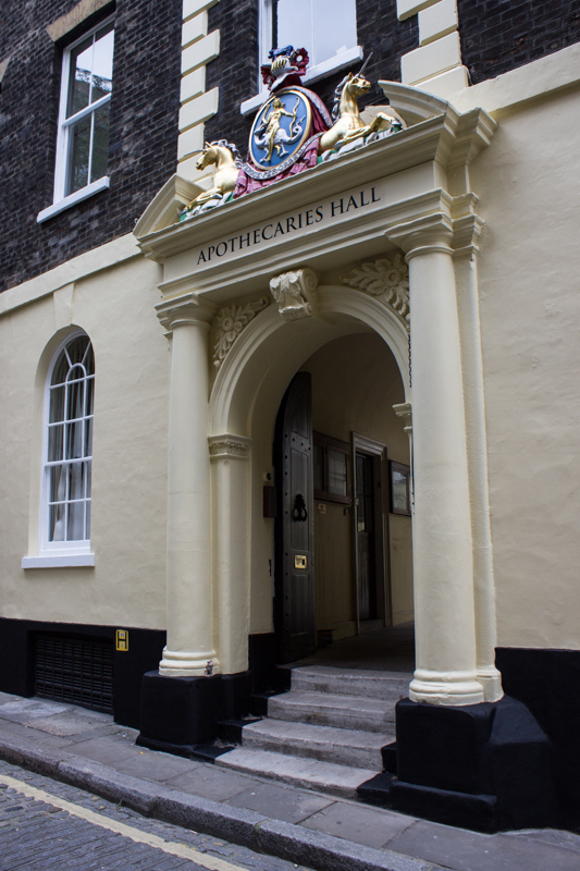 The entrance to the Worshipful Company of Apothecaries