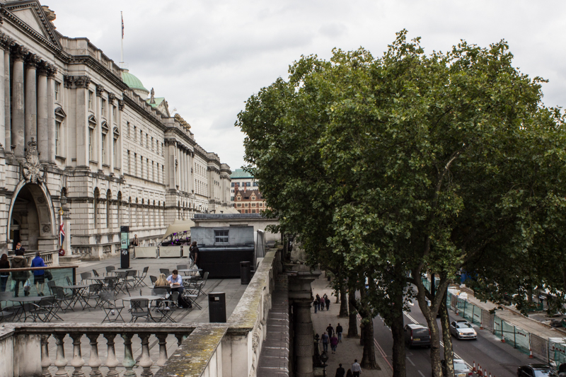 Somerset House overlooking the Embankment