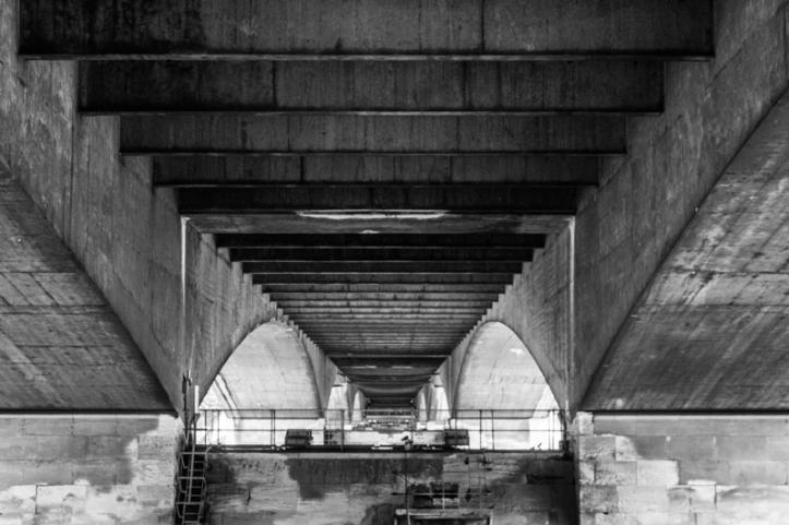 Underneath Waterloo Bridge