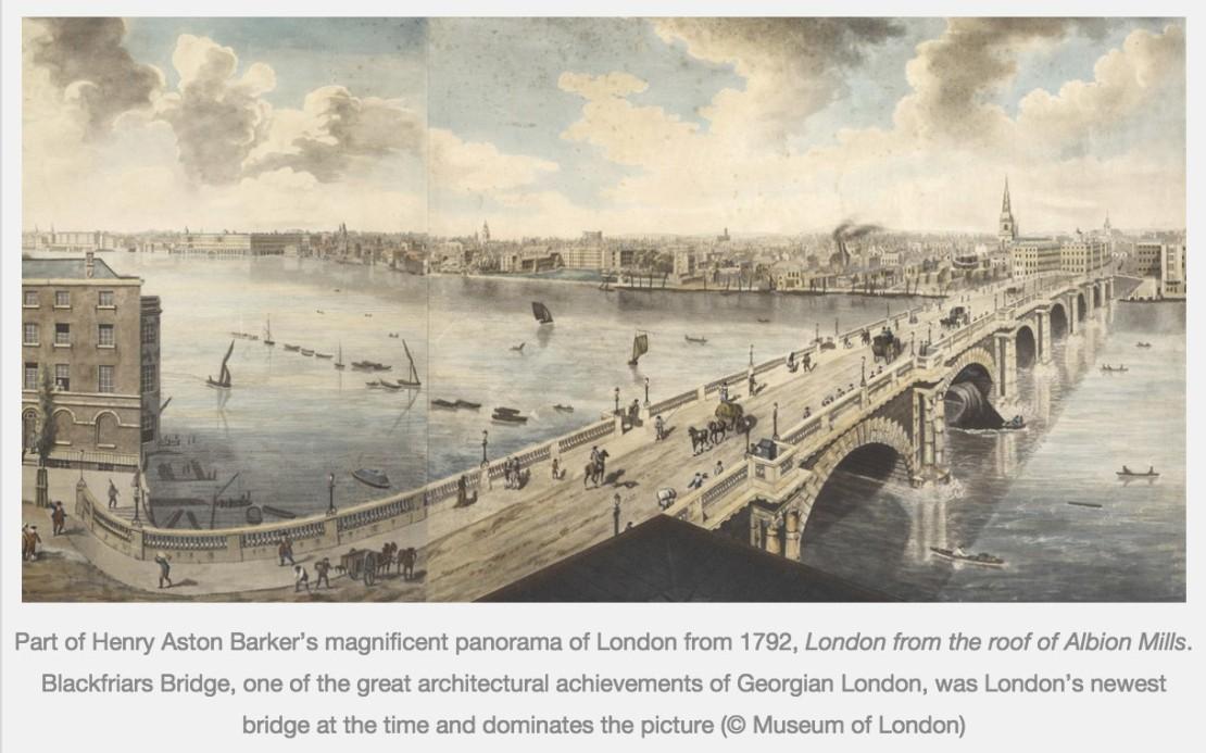 Blackfriars Bridge, 1792 (https://exhibitionologist.wordpress.com/2014/09/13/review-bridge)