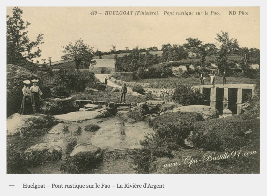 Bridge over Fao River, Huelgoat (http://www.cpa-bastille91.com/cartes-postales/femmes/)