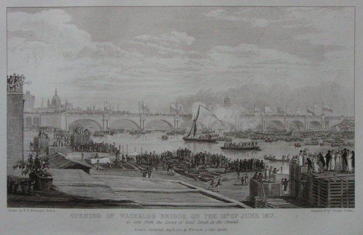 Opening of Waterloo Bridge, 1817 (www.rareoldprints.com)