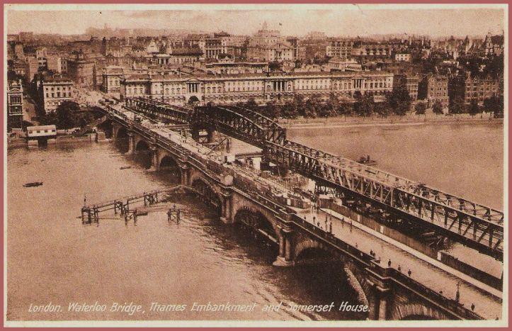 Waterloo Bridge with Bailey Bridge (wwwstories-of-london.org)