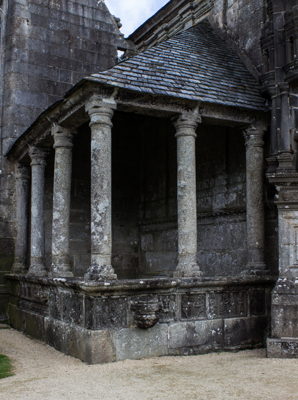 A small, old Ossuary attached to the South Porch, Guimiliau