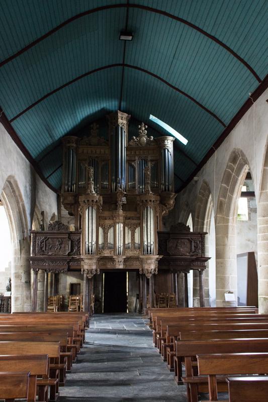 The Church interior, Guimiliau