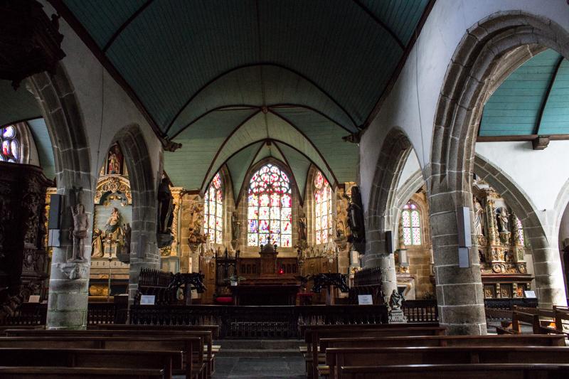 Interior of the Church, Guimiliau