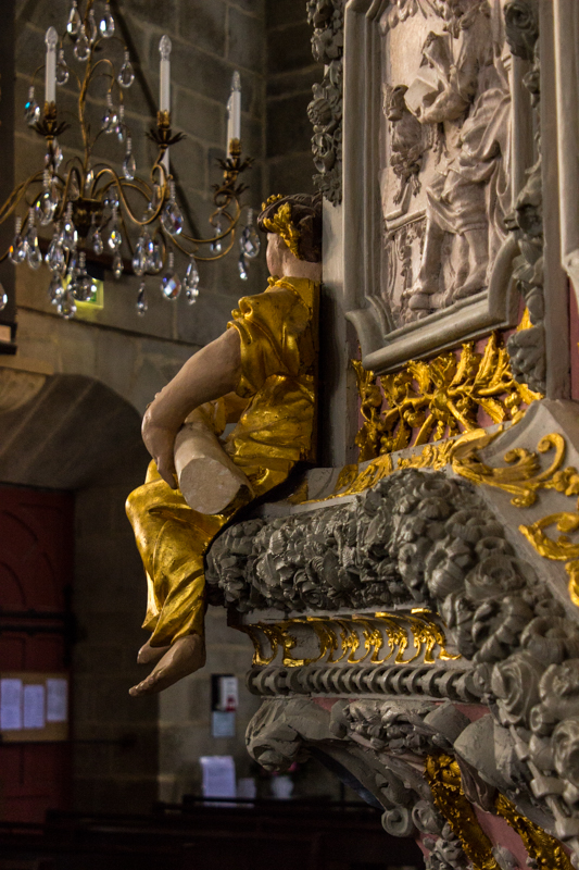 The astonishing pulpit at St Thegonnec
