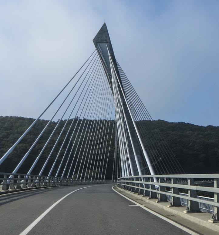 Terenez Bridge over the Aulne River