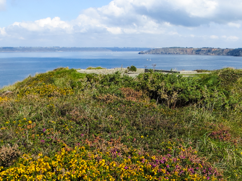 On the headland above Camaret-sur-Mer, looking towards Brest