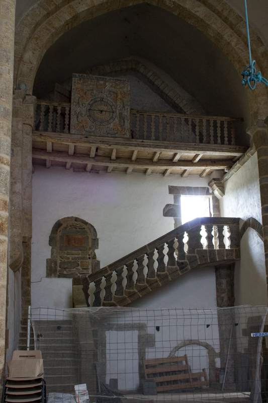 Renovation work in the Church at Le Relecq