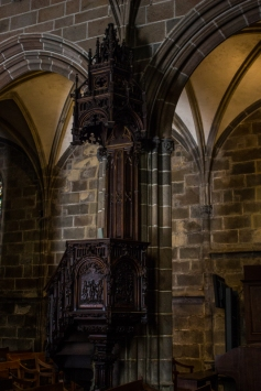 The pulpit, Le Folgoet Church