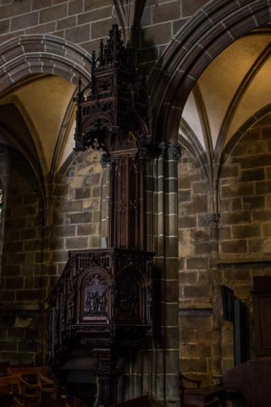 The pulpit, Le Folgoet Church