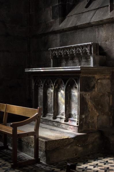 A stone altar, Le Folgoet Church