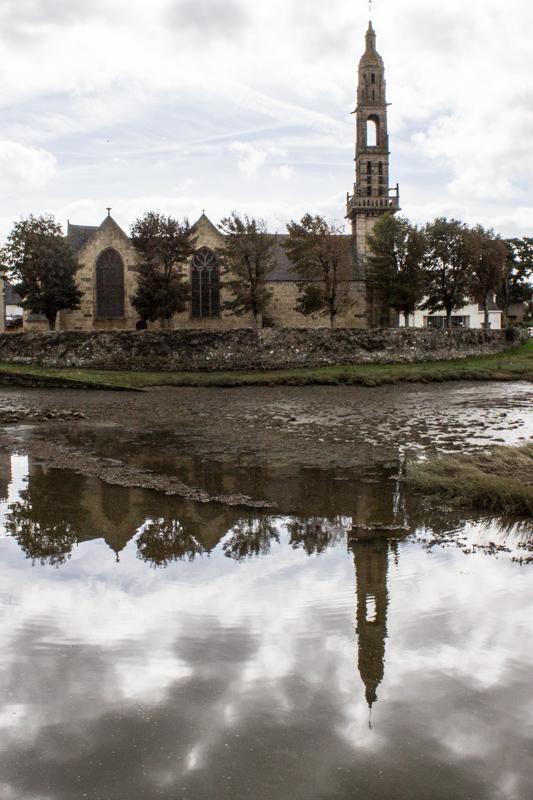 St Sauveur at Le Faou alongside the Port