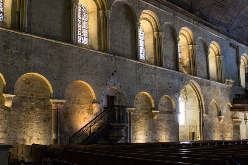 The Basilica of St Sauveur - the Romanesque side of the church