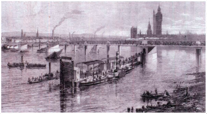 Hungerford Rail Bridge (http://www.skydive.ru/en/londons-bridges/335-hungerford-bridge-part-two.html)