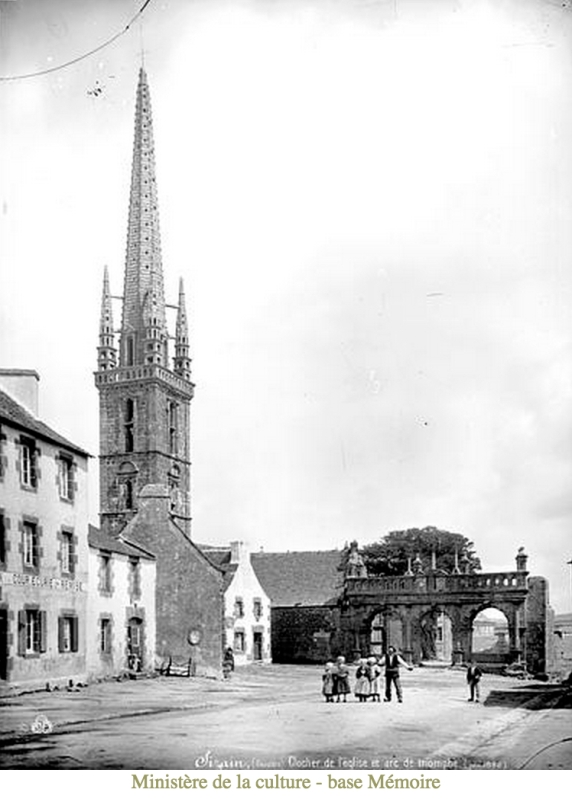 Sizun Church (Ministry of Culture database); photograph by Mederic Mieusement (1840-1905)