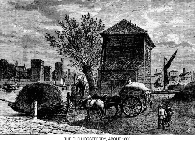 The old Horseferry, c.1800 (www.british-history.ac.uk)