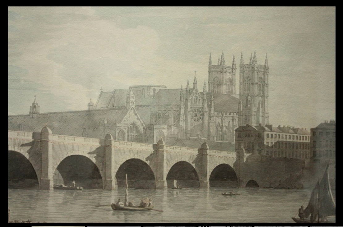 Westminster Bridge by Joseph Farrington, 1759 (https://en.wikipedia.org/wiki/File:Westminster_Bridge_by_Joseph_Farrington,_1789.JPG)