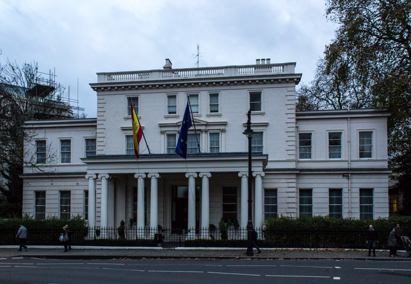 The Spanish Embassy in Belgrave Square