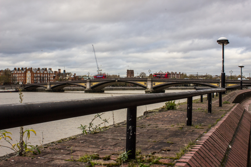 Battersea Bridge from Battersea Old Church