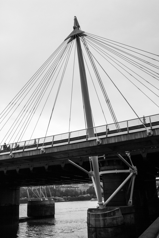 The Golden Jubilee footbridge