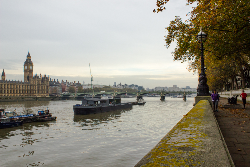 The Houses of Parliament & Westminster Bridge from the Embankment