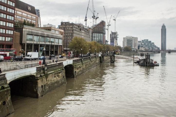 The embankment at Lambeth Bridge