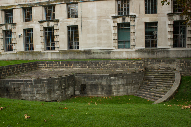 The Old Whitehall Steps down to the Thames, the Queen Mary Steps