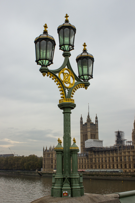 The lights on Westminster Bridge