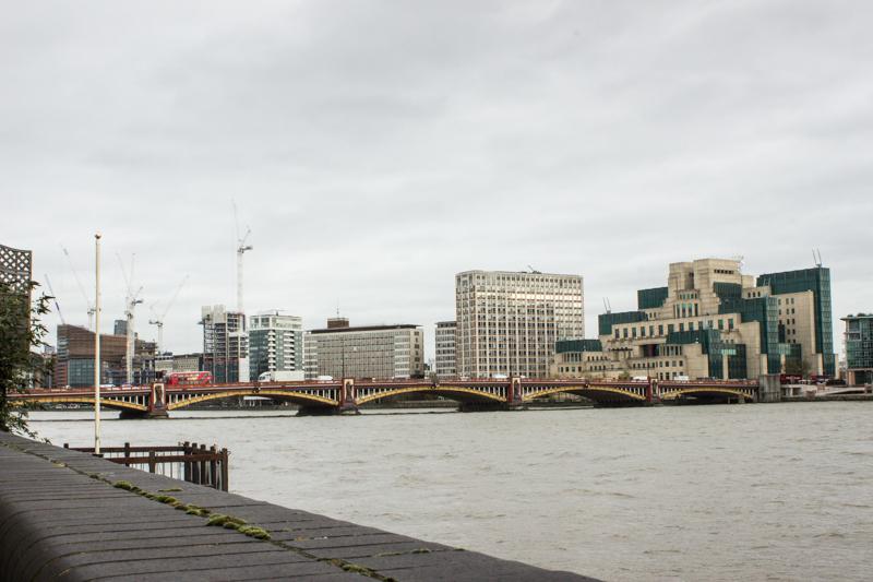 Vauxhall Bridge upstream today