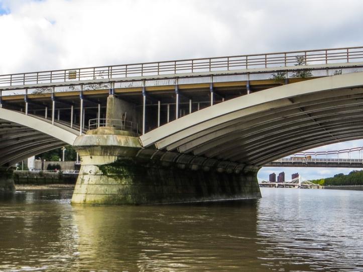 Victoria Railway Bridge from the river