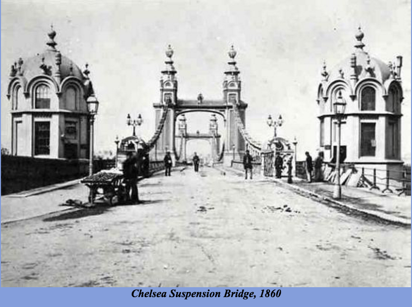 Chelsea Suspension Bridge, 1860 (http://thames.me.uk/s00170.htm#top)