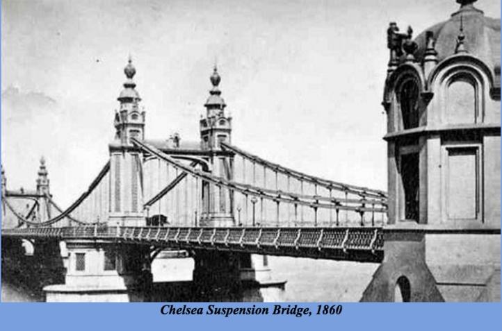 Chelsea Suspension Bridge, 1860 (http://thames.me.uk/s00170.htm#top)