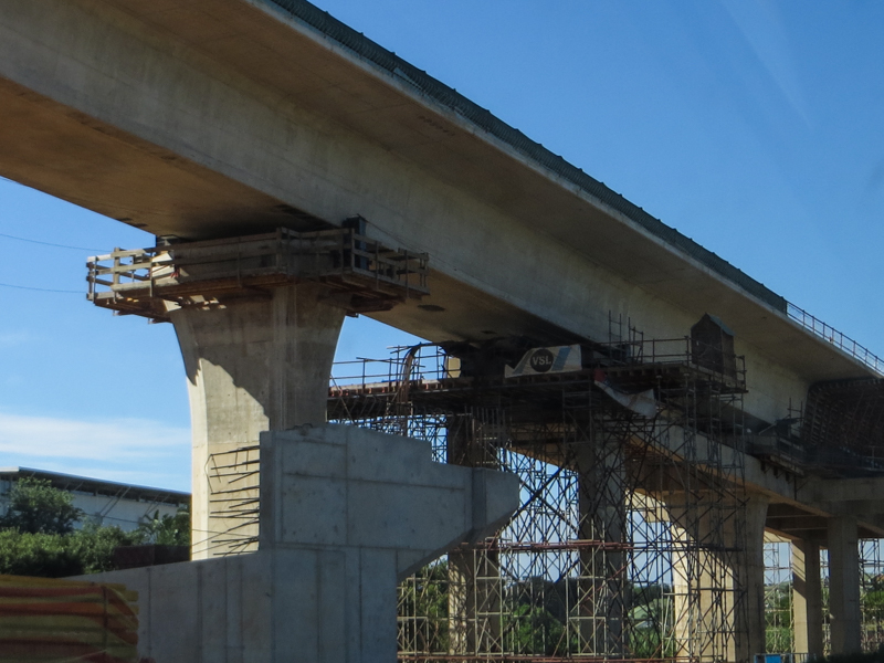 The new bridge & interchange over the N2 at Umhlanga Rocks