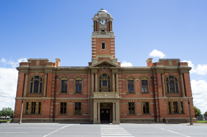 Harrismith Town Hall, sandstone & brick, 1907