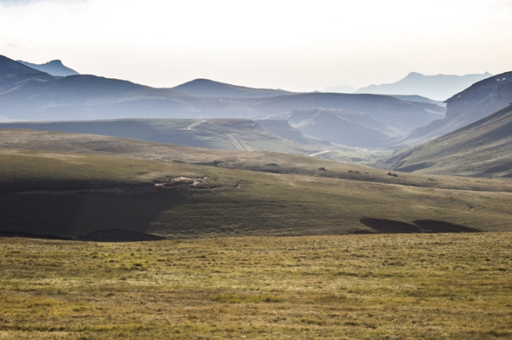 The Oribi Loop grasslands in the evening light