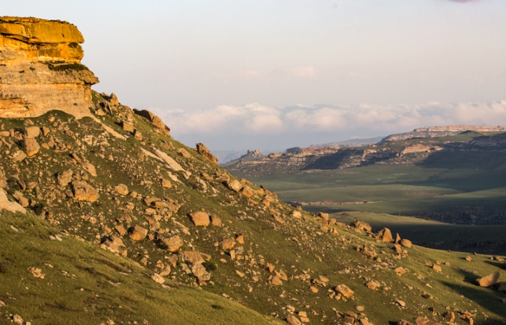 Looking towards the Drakensberg
