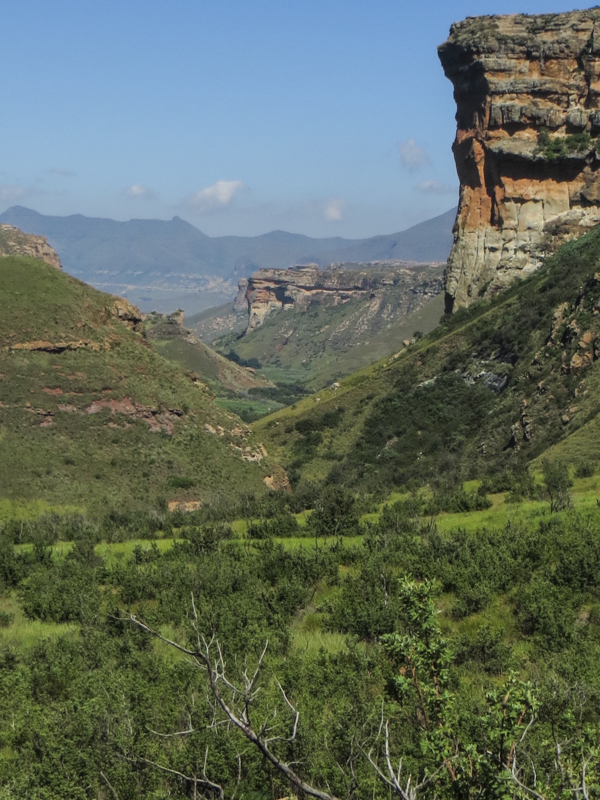 The views past the Buttress & towards Clarens