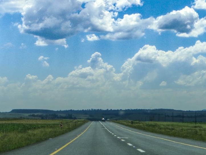 The road between Ficksburg & Ladybrand