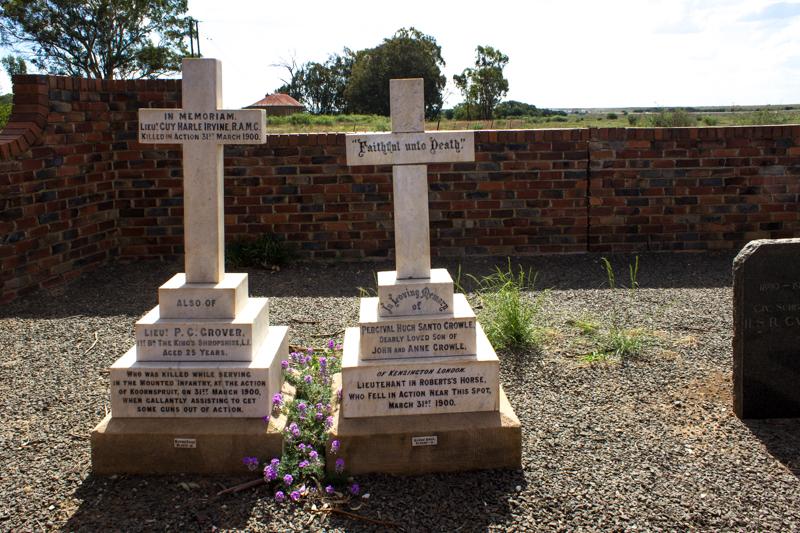 The graveyard at Sannas Pos