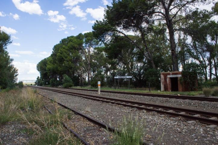 The railway line at Sannas Pos