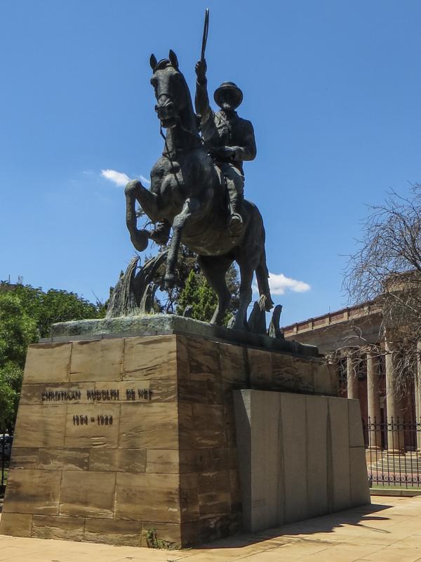 General Christiaan de Wet on his white Arab horse, Fleur
