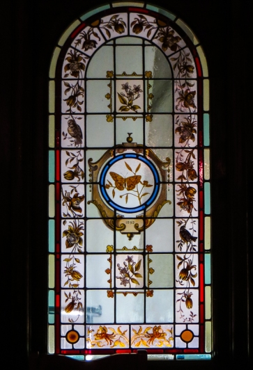 Stained glass from the Queen's Hotel, Bloemfontein