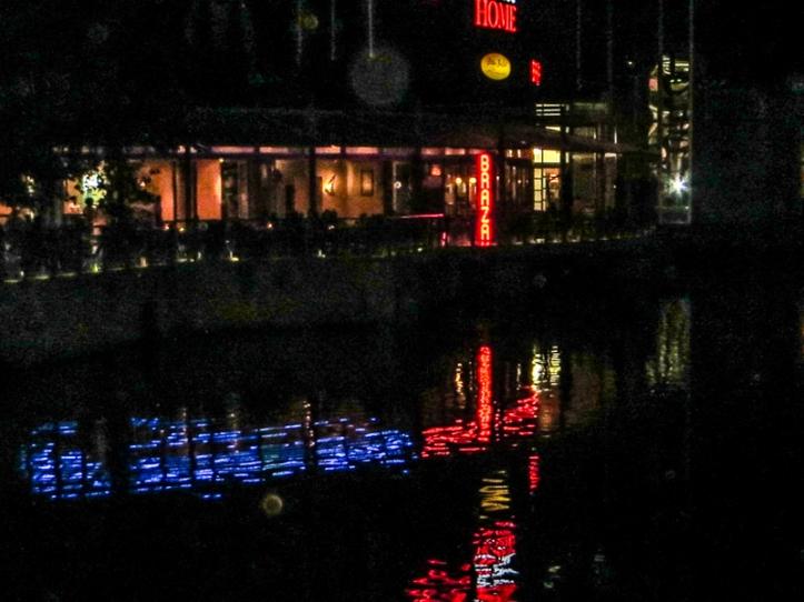 Loch Logan Waterfront, Bloemfontein, at night