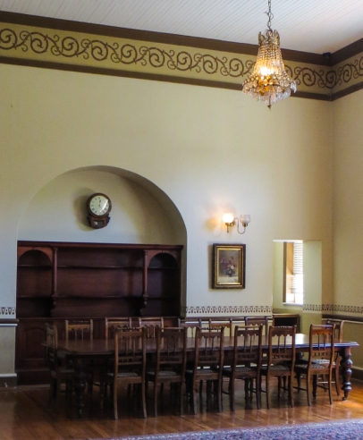 The dining room on the ground floor of the Old Presidency, Bloemfontein