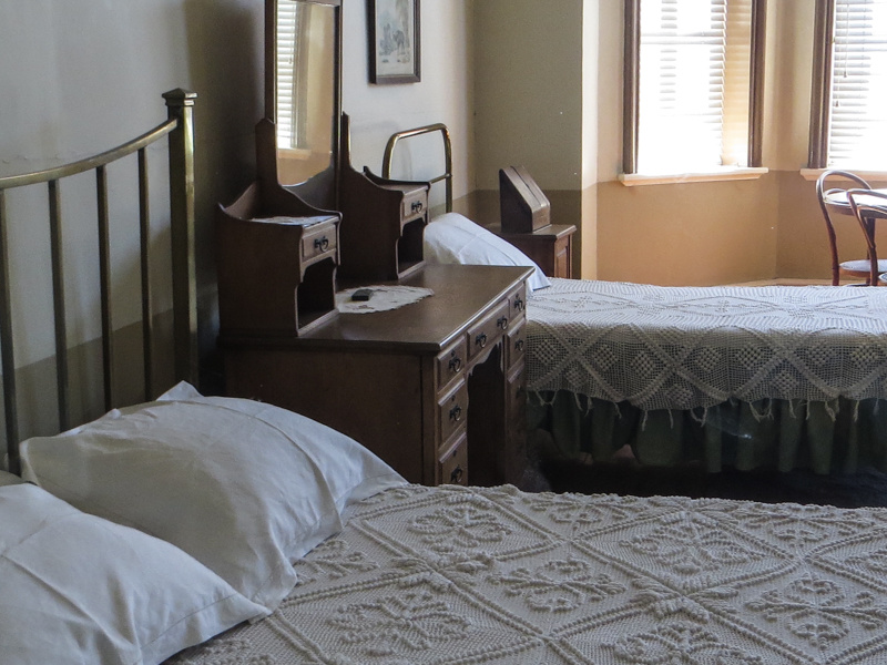 One of the first floor bedrooms, the Old Presidency