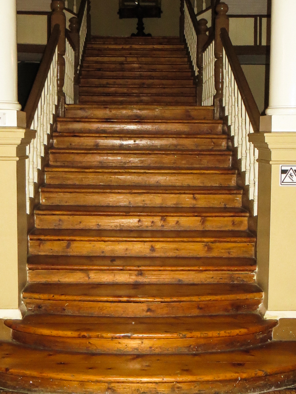 The main stairs, made of yellowwood, the Old Presidency, Bloemfontein