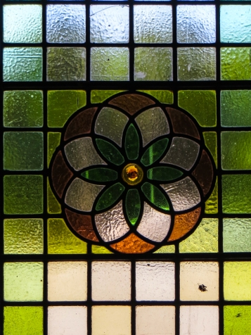 Stained glass in the entrance door of the Old Presidency, Bloemfontein